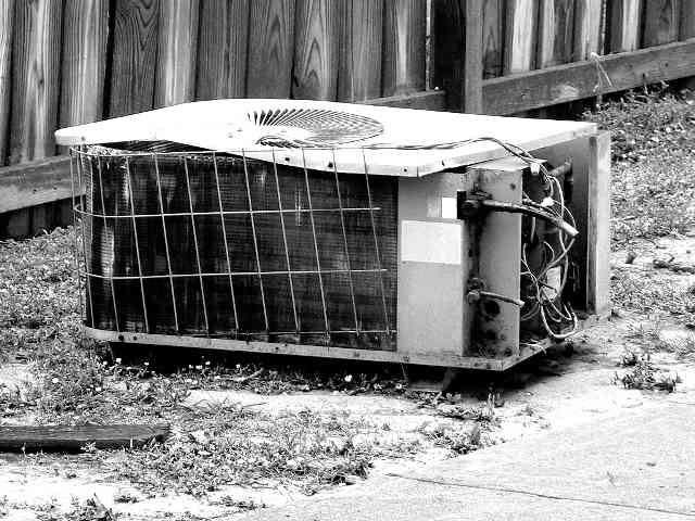 broken air conditioner