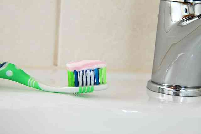 toothbrush on sink