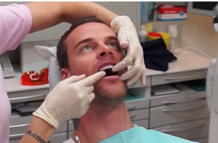 Teeth being checked