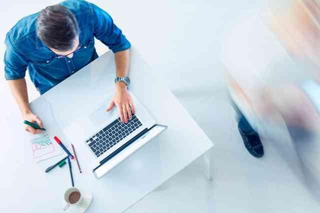 Man Using the Laptop