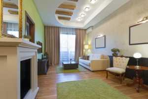 Green beautiful hotel