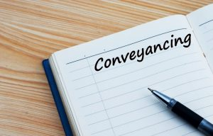 Conveyancing text written on a diary