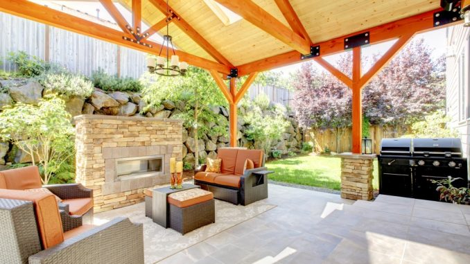 Simple residential patio