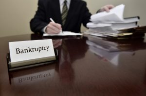 bankruptcy paralegal on his desk
