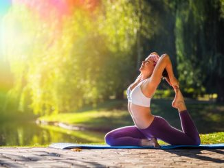 Woman Doing Yoga Outdoors