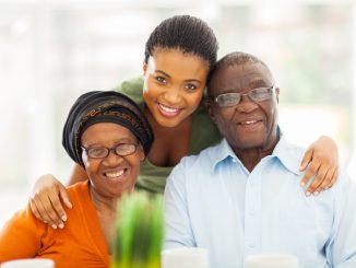 Woman With Her Elderly Parents