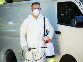 Man with pesticide