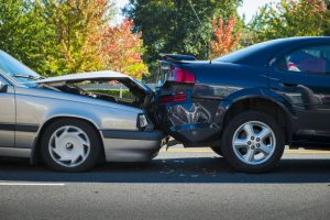 Two Cars Involved in Accident