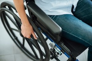 someone using a wheelchair