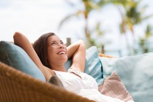woman enjoying the laid back life