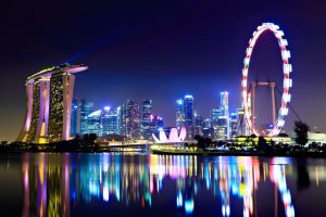 Singapore Marina Bay Sands at night