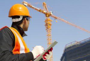 engineer monitoring crane
