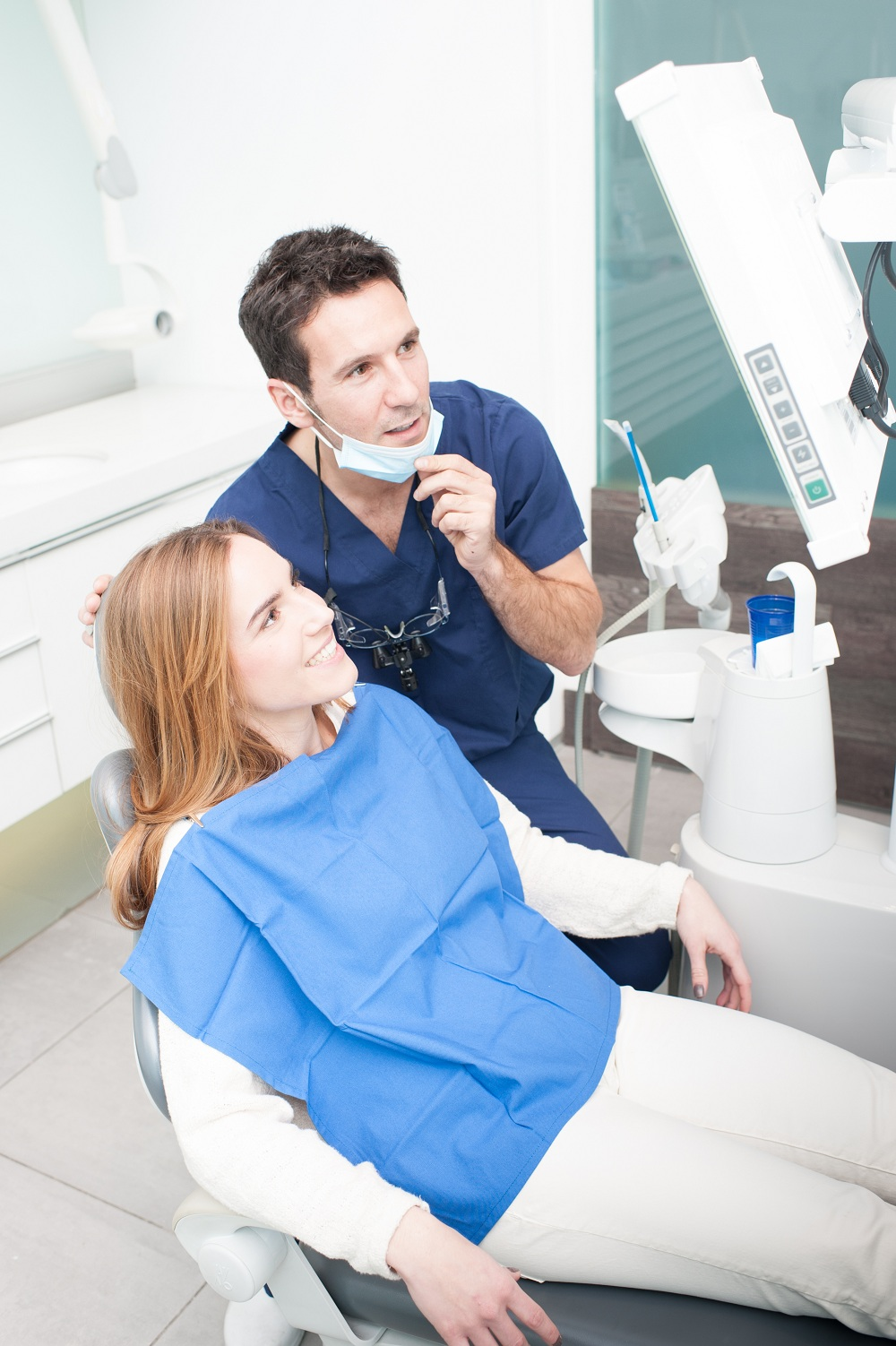 a patient at the dentist