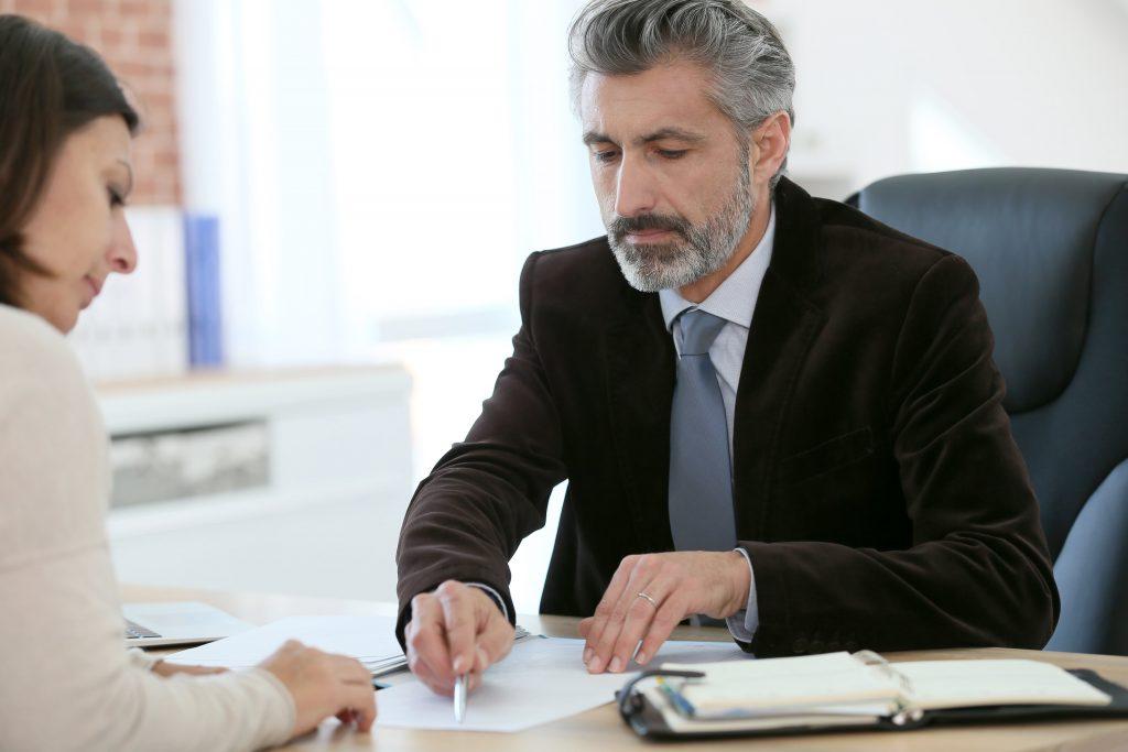 mortgage broker showing loan offers