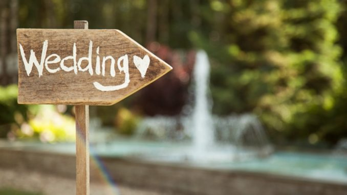Wedding sign board