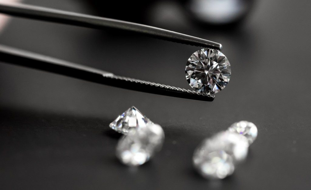 Close up of a diamond