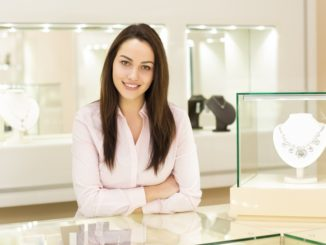an entrepreneur inside her jewelry shop