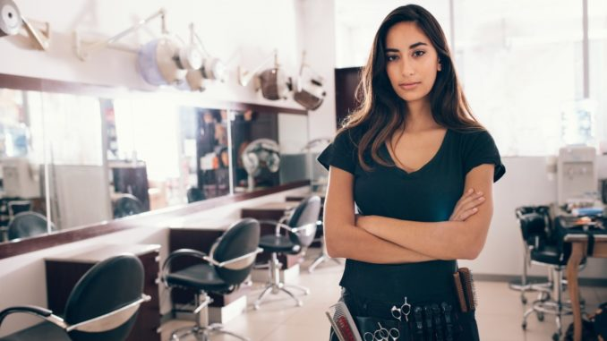 entrepreneur inside her own salon