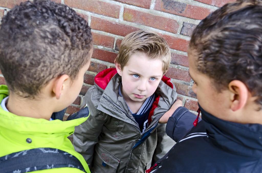 big kids bullying small kid