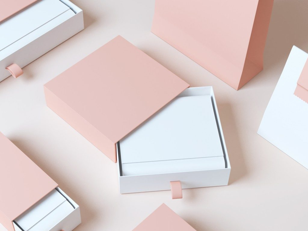 baby pink boxes packaging