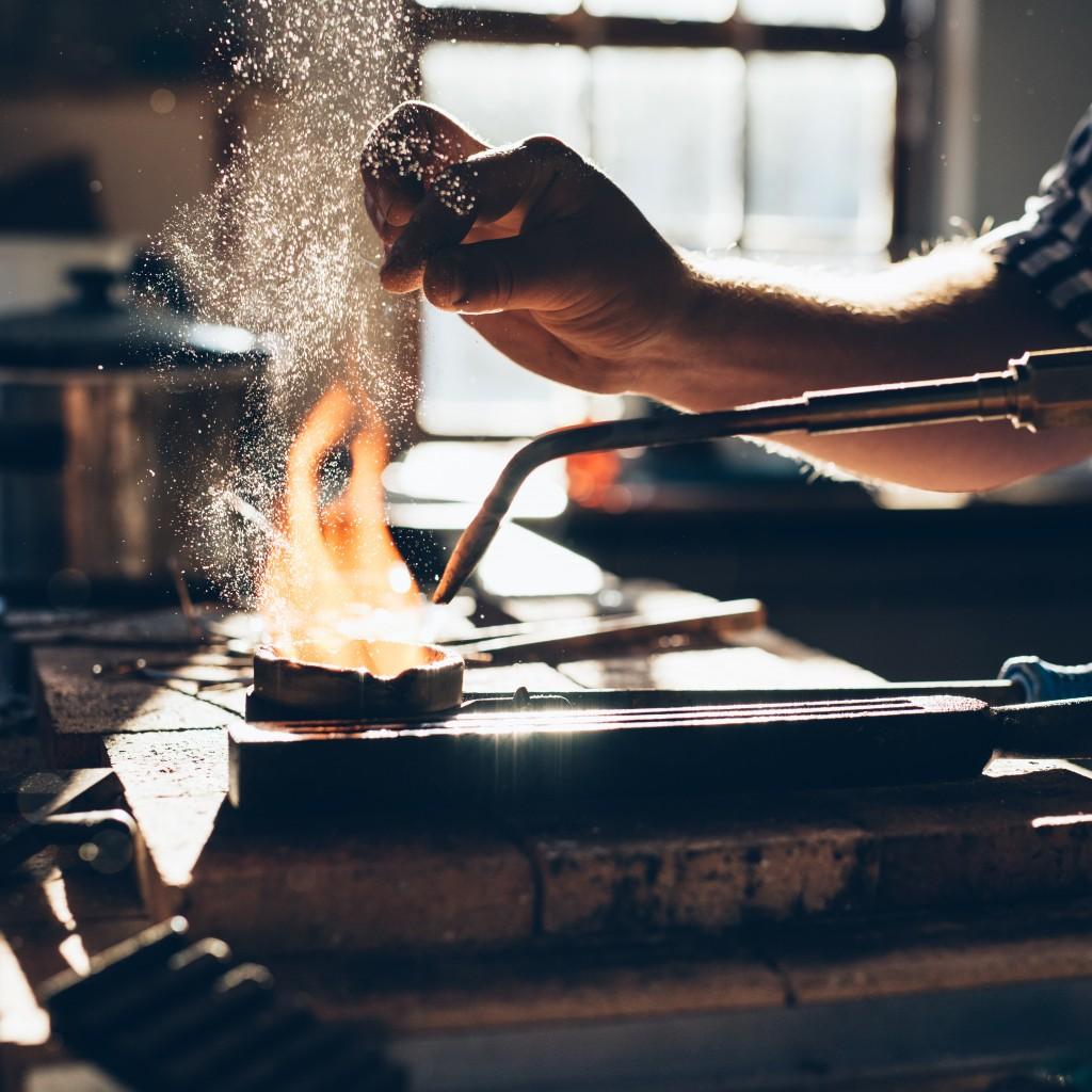 Blacksmith forging