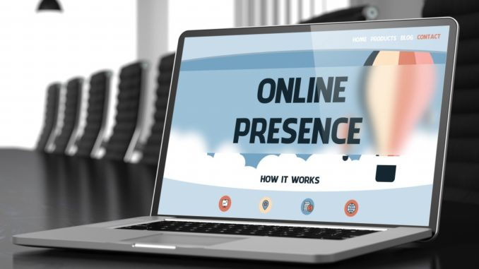 online presence tutorial on laptop