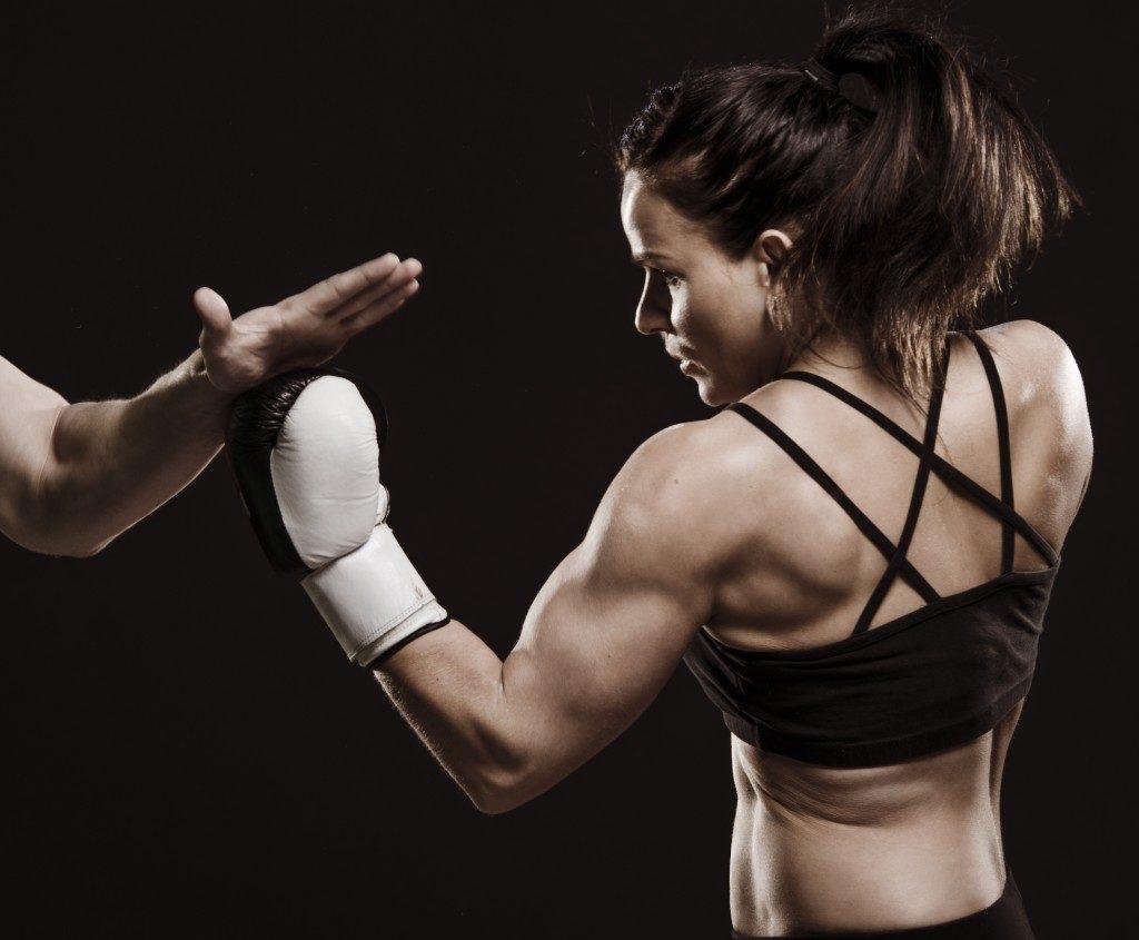 Female athlete training
