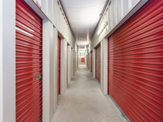 hallway of storage units