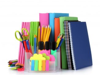 Bright stationery and books