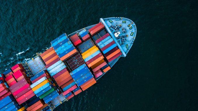 sea vessel containing cargo