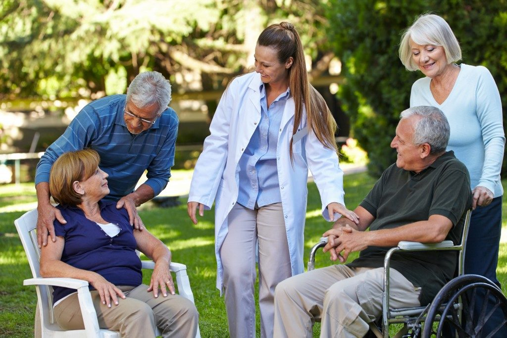talking to senior citizens