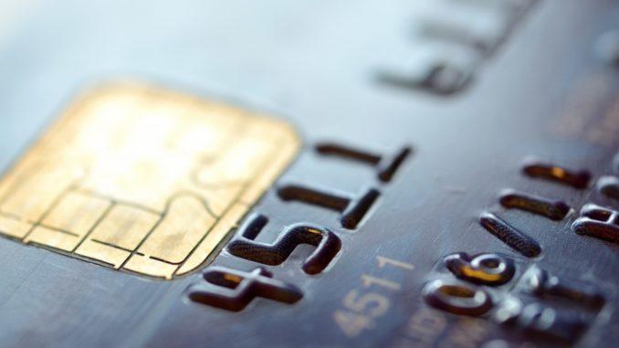 closeup of a credit card