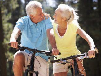 seniors joining a bike ride