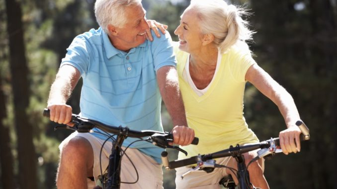 seniors joining a bike ride