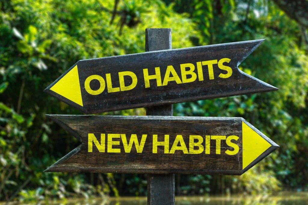 Old habits new habits sign