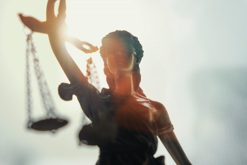 figurine of justice