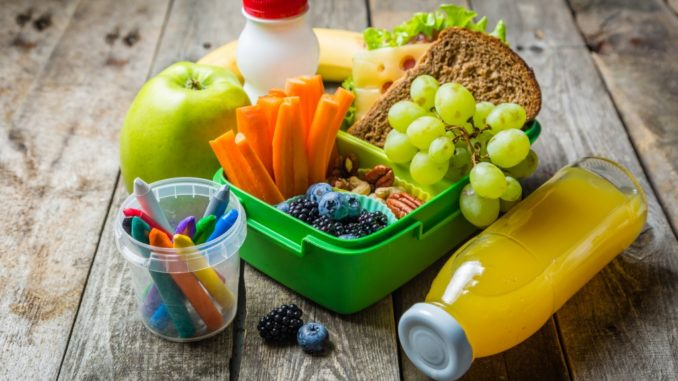 fruit and vegetables lunch box