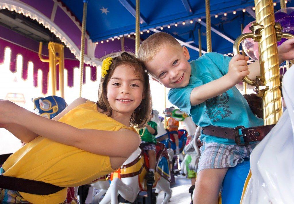 Kids having fun on a carnival
