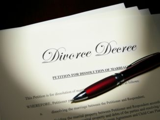 divorce papers with sign pen