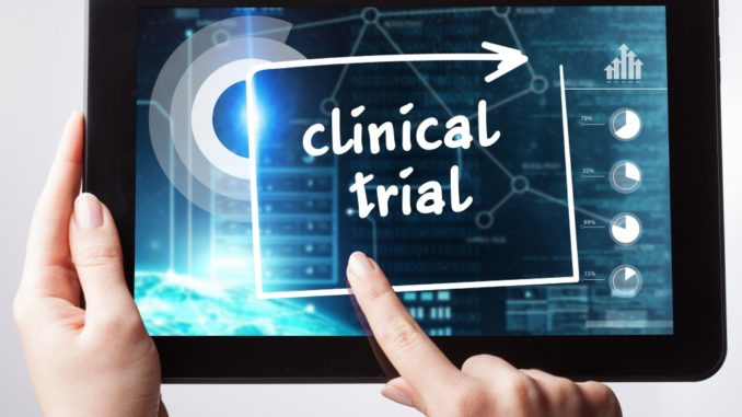 clinical trial written on the tablet