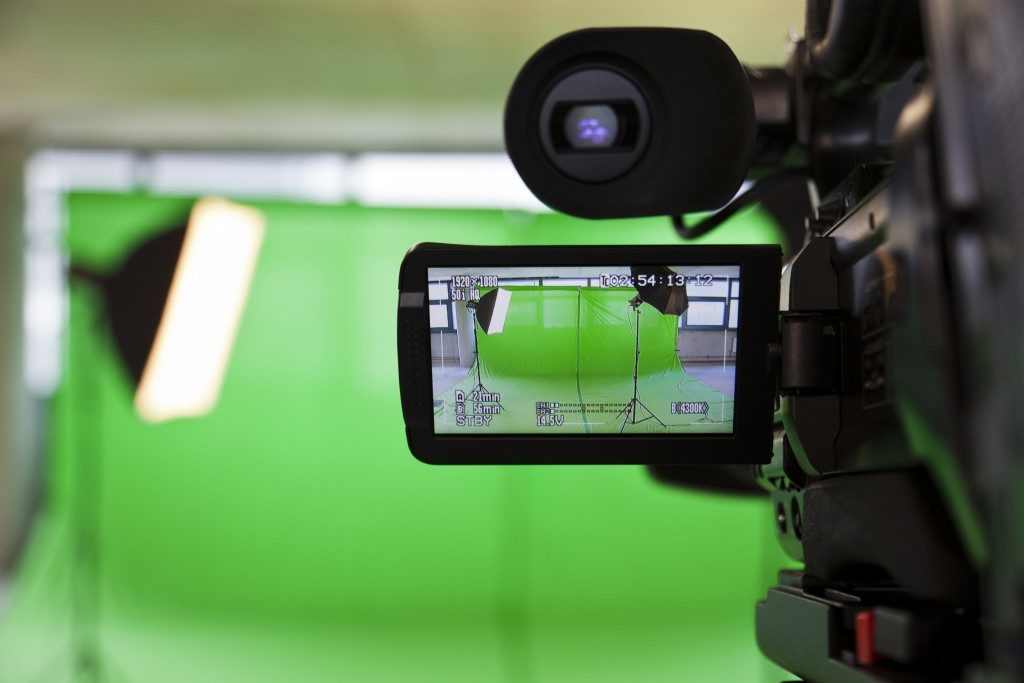 video camera set up for filming