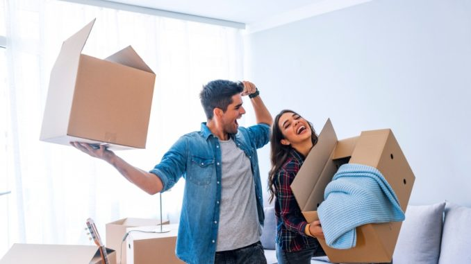 couple getting ready to move