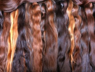 wavy hair with different shades of brown