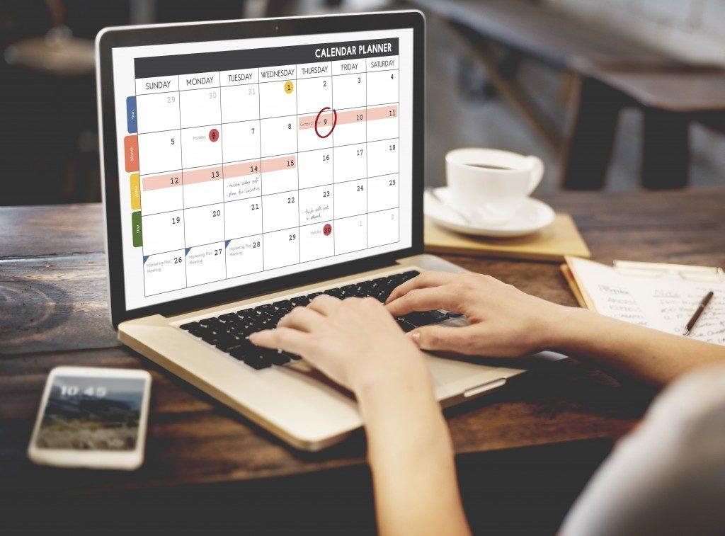 Daily calendar planner