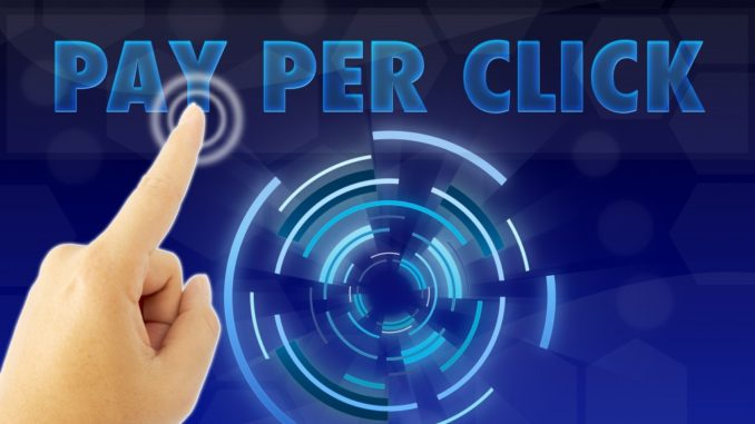 Person selecting Pay Per Click