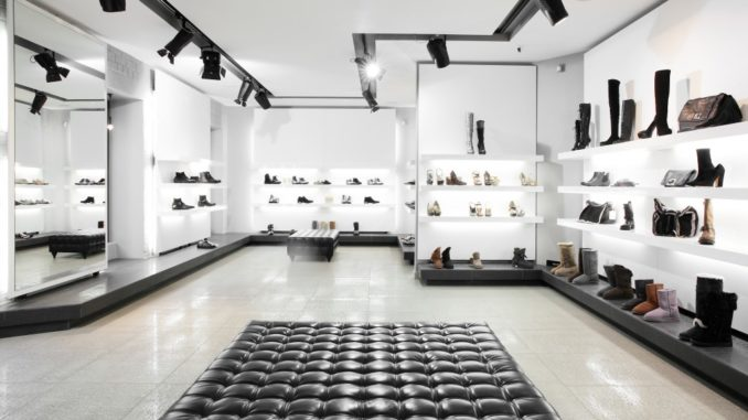 inside a luxury store